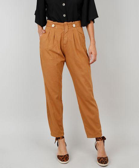 Calca-Jeans-Feminina-Clochard-Com-Botoes-Caramelo-9536749-Caramelo_1