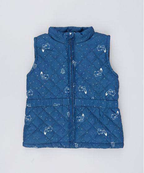 Colete-Infantil-Matelasse-Com-Estampa-Raposinhas-Azul-Marinho-9349777-Azul_Marinho_1