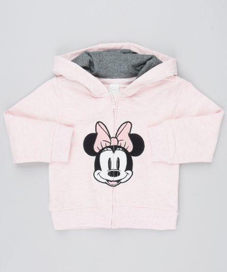 Blusao-Infantil-em-Moletom-Minnie-com-Capuz-Rosa-Claro-9345938-Rosa_Claro_1