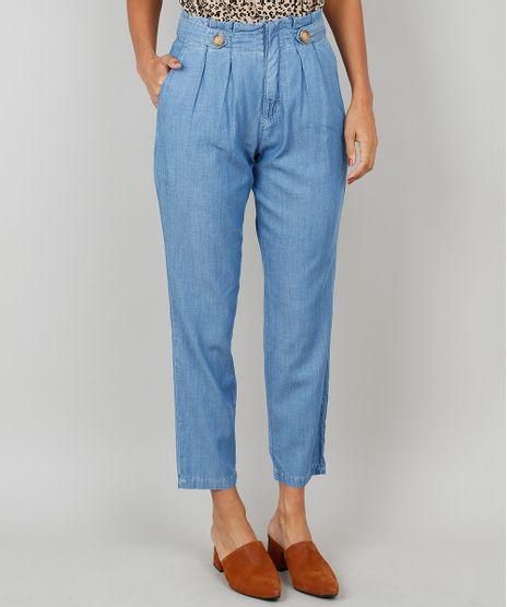 5a289d19f Calca-Jeans-Feminina-Clochard-Com-Botoes-Azul-9536748-