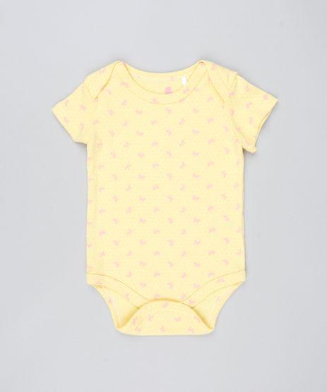 Body-Infantil-Estampado-com-Laco-Manga-Curta-Amarelo-9544185-Amarelo_1
