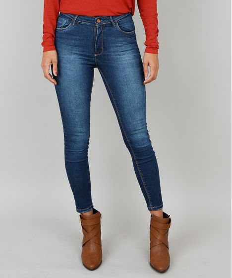 0f10e7ec9 Calca-Jeans-Feminina-Super-Skinny-Azul-Escuro-9537866- ...