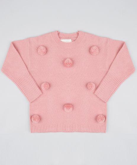 Sueter-Infantil-em-Trico-com-Pompom-Rosa-9434400-Rosa_1