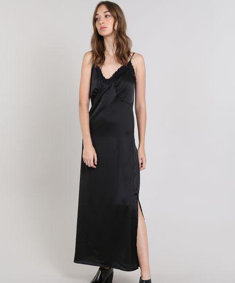 2e01b5e39 Vestido-Slip-Dress-Mindset-Longo-Acetinado-Preto-9563347-