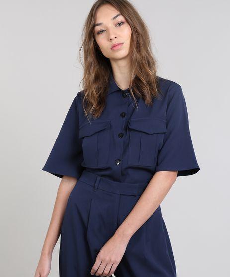 Camisa-Cropped-Feminina-Mindset-com-Bolsos-Manga-Curta-Azul-Marinho-9599057-Azul_Marinho_1