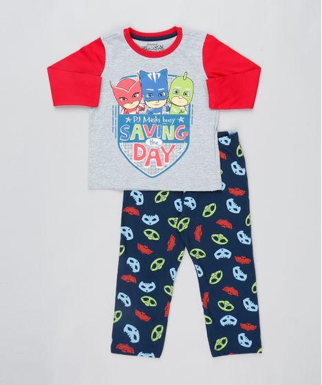 3a3c6cb7a Pijama-Infantil-PJ-Masks-Manga-Longa-Cinza-9526417- ...