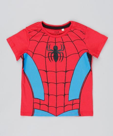 Camiseta-Infantil-Homem-Aranha-Manga-Curta-Vermelha-9528120-Vermelho_1