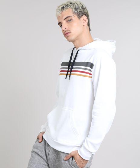 Blusao-Masculino-em-Moletom-com-Listras-e-Capuz-Branco-9481804-Branco_1
