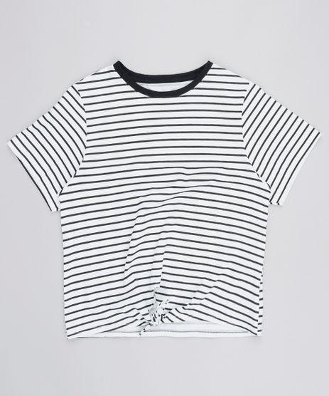 Blusa-Infantil-Listrada-com-No-Manga-Curta-Branca-9539933-Branco_1