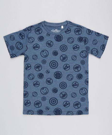 Camiseta-Infantil-Estampada-Os-Vingadores-Manga-Curta-Azul-Marinho-9525760-Azul_Marinho_1