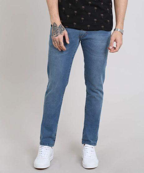 Calca-Jeans-Masculina-Slim-Azul-Medio-9565380-Azul_Medio_1