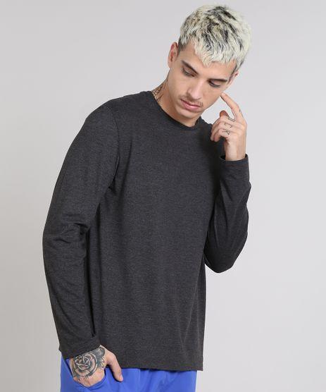 Camiseta-Masculina-Basica-Gola-Careca-Manga-Longa-Cinza-Mescla-Escuro-9482634-Cinza_Mescla_Escuro_1