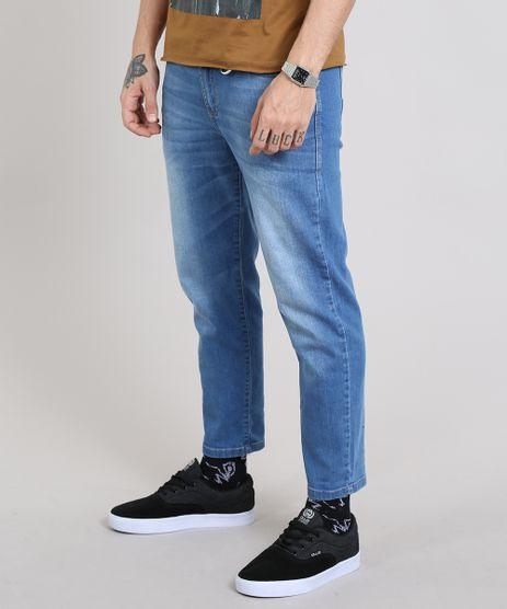 Calca-Jeans-Masculina-com-Mosquetao-Azul-Medio-9529025-Azul_Medio_1