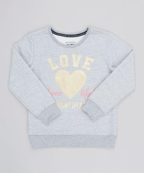 Blusao-Infantil-em-Moletom--Love--Cinza-Mescla-9539946-Cinza_Mescla_1