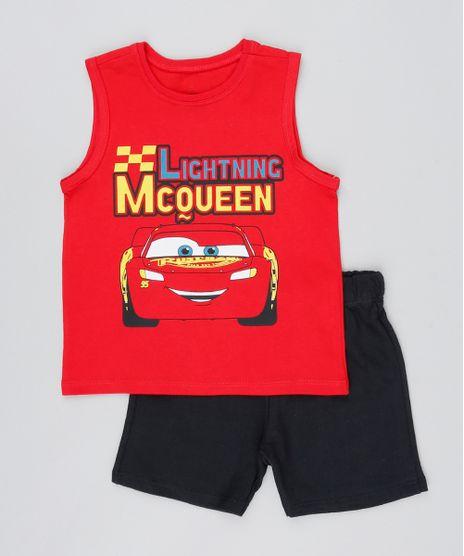 Conjunto-Infantil-Relampago-McQueen-de-Regata-Vermelha---Bermuda-Preta-9529939-Preto_1