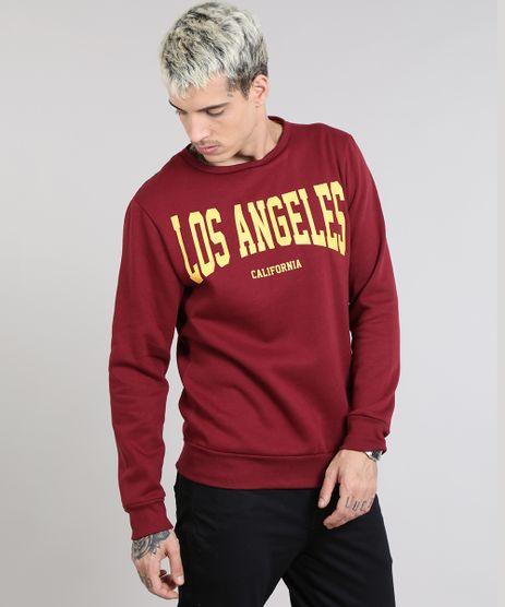 Blusao-Masculino-em-Moletom--Los-Angeles--Vinho-9486888-Vinho_1