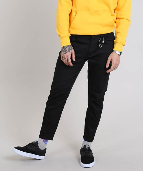 Calca-Jeans-Masculina-com-Mosquetao-Preta-9529024-Preto_1