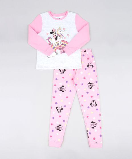 Pijama-Infantil-em-Moletom-Minnie-Manga-Longa-Rosa-Claro-9526227-Rosa_Claro_1