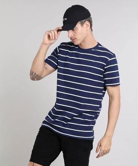 Camiseta-Masculina-Basica-Listrada-Manga-Curta-Gola-Careca-Azul-Marinho-9551454-Azul_Marinho_1