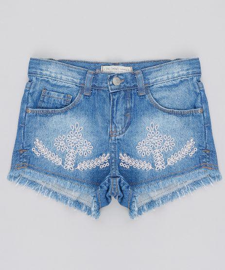 Short-Jeans-Infantil-com-Bordado-e-Barra-Desfiada-Azul-Medio-9541174-Azul_Medio_1