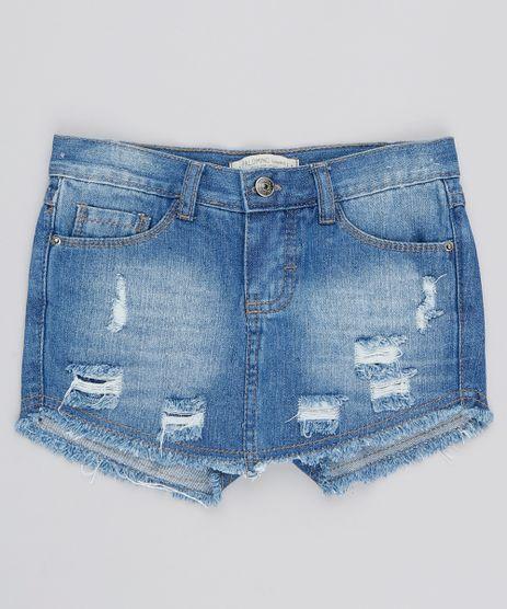 279039fc424 Short-Saia-Jeans-Infantil-Destroyed-Azul-Medio-9541172-