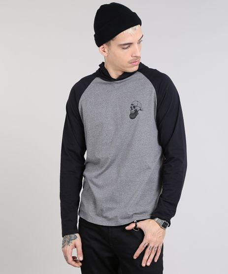 Camiseta-Masculina-Caveira-com-Capuz-Manga-Longa-Raglan-Cinza-Mescla-9468150-Cinza_Mescla_1