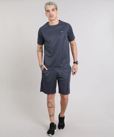 Conjunto-Masculino-Esportivo-Ace-de-Camiseta-Manga-Curta---Bermuda-Chumbo-9582275-Chumbo_1