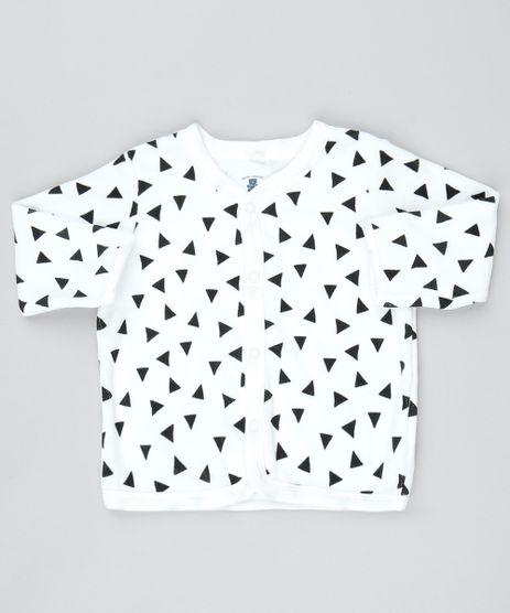 Cardigan-Infantil-em-Plush-Estampado-de-Triangulos-com-Bolsos-Off-White-9198241-Off_White_1