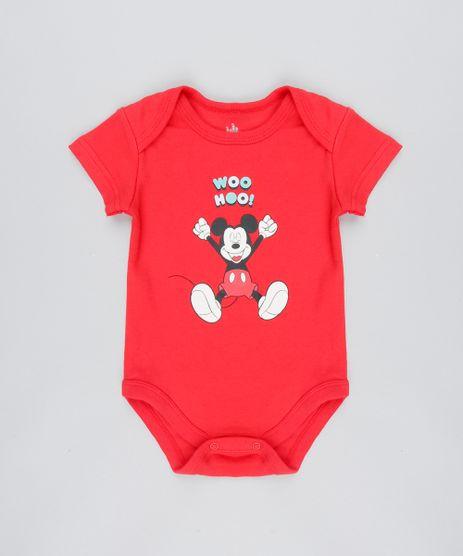 Body-Infantil-Mickey--Woo-Hoo---Manga-Curta-Vermelho-9443992-Vermelho_1