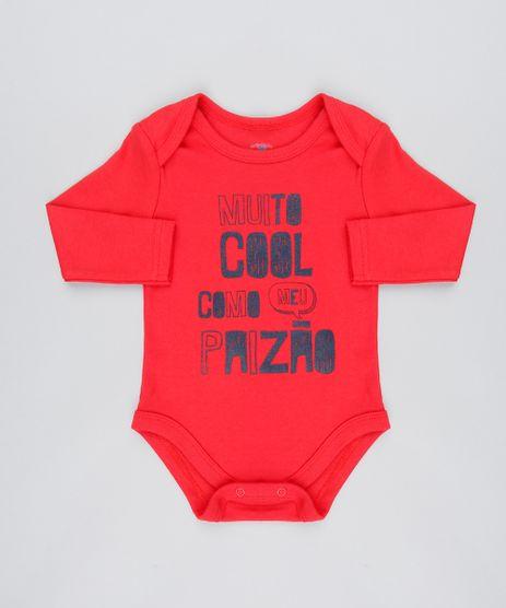 Body-Infantil--Muito-Cool-Como-meu-Paizao--Manga-Longa-Vermelho-9443999-Vermelho_1
