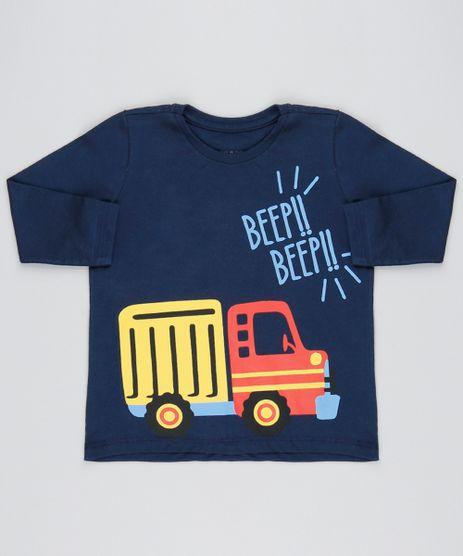 931fda64e4 Camiseta-Infantil-Caminhao--Beep-beep--Manga-Longa-