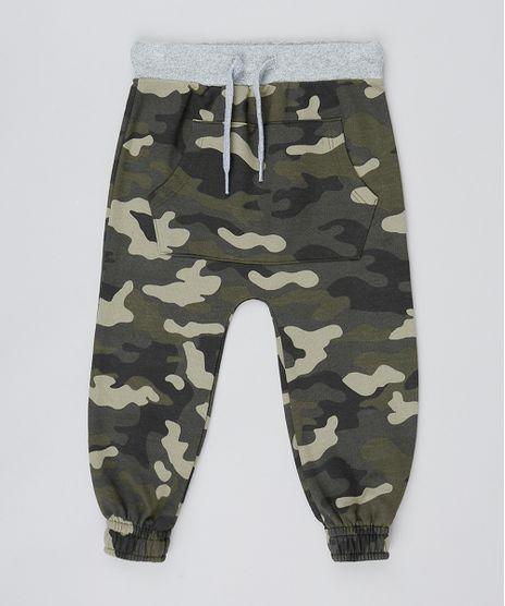 Calca-Infantil-Saruel-em-Moletom-Estampada-Camuflagem-Verde-Militar-9482767-Verde_Militar_1