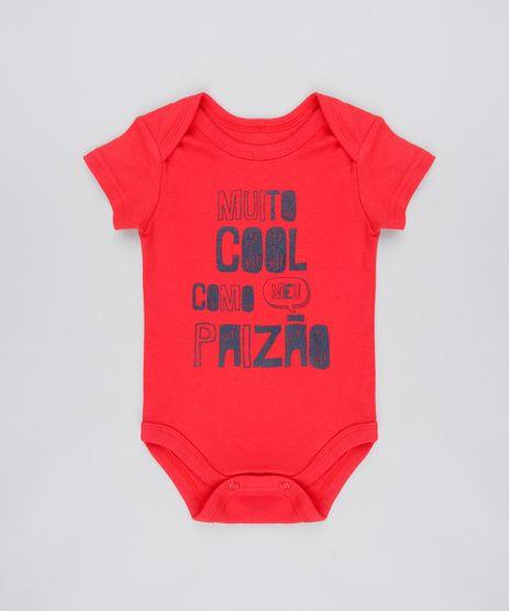 Body-Infantil--Muito-Cool-Como-meu-Paizao--Manga-Curta-Vermelho-9444001-Vermelho_1