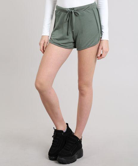 Short-Feminino-Running-Basico-em-Moletom-Verde-Militar-9394150-Verde_Militar_1