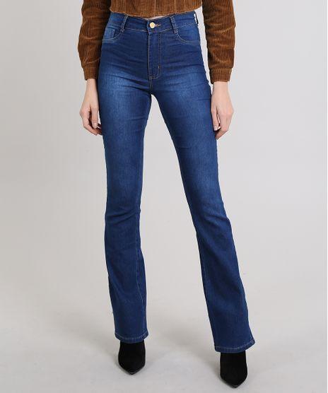 1e6efc529 Calca-Jeans-Feminina-Sawary-Flare-Azul-Medio-9581041-