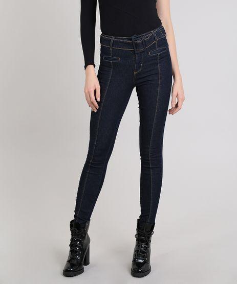 Calca-Jeans-Feminina-Cigarrete-com-Cinto-Azul-Escuro-9543141-Azul_Escuro_1