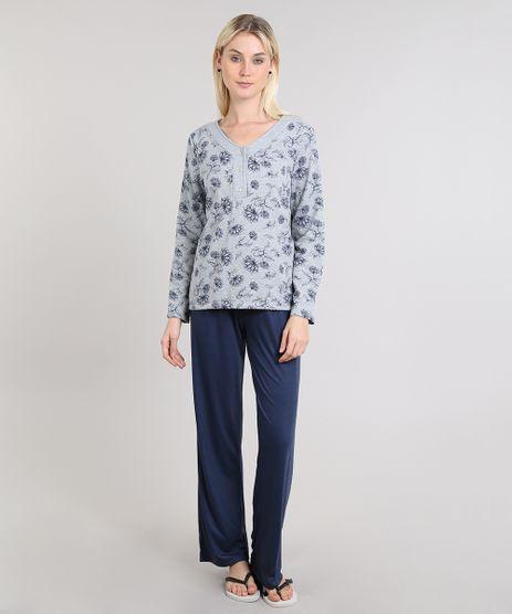 Pijama-Feminino-Estampado-Manga-Longa-Floral-Cinza-9508006-Cinza_1