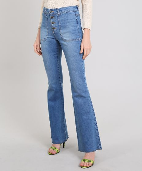 Calca-Jeans-Feminina-Flare-Barra-Desfeita-Azul-Medio-9539275-Azul_Medio_1