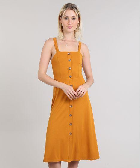 42c9c44fc3 Vestido-Feminino-Com-Botoes--Amarelo-9422400-Amarelo 1 ...