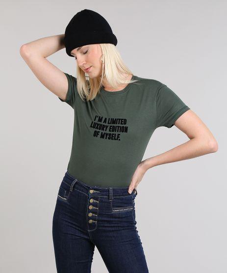 Blusa-Feminina--I-m-A-Limited-----Decote-Arredondo-Canelado-Manga-Curta-Verde-Escuro-9465202-Verde_Escuro_1