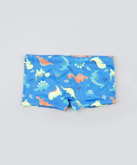 Sunga-Infantil-Boxer-Estampada-de-Dinossauros-Azul-9519061-Azul_1