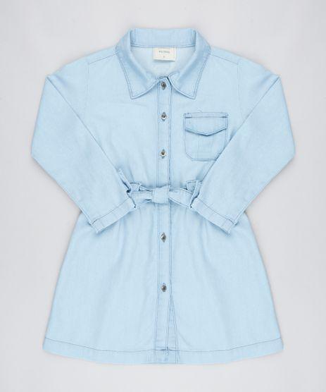Vestido-Jeans-Infantil-com-Laco-Manga-Longa-Azul-Claro-9545987-Azul_Claro_1
