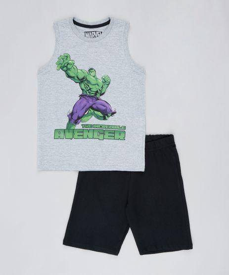 Conjunto-Infantil-Hulk-de-Regata-Cinza-Mescla---Bermuda-em-Moletom-Preta-9526468-Preto_1
