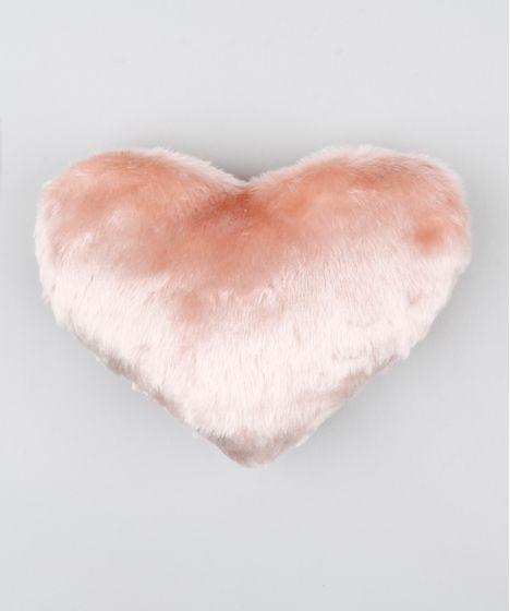882b1da5ab124e Almofada de Coração em Pelúcia Rosa - cea