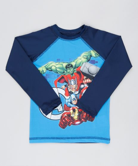 Camiseta-de-Praia-Infantil-os-Vingadores-Raglan-Manga-Longa-Azul-9519218-Azul_1