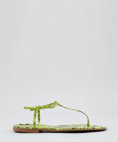 Rasteira-Feminina-com-Corrente-Animal-Print-Verde-Neon-9568624-Verde_Neon_1