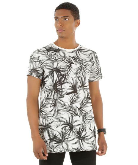 Camiseta-Longa-Estampada-de-Folhagem-Off-White-8450882- 6163651a089