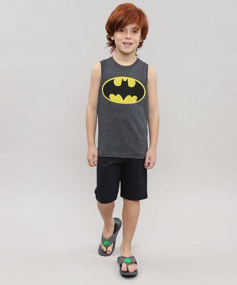 Conjunto-Batman-de-Regata-Gola-Careca-Cinza-Mescla-Escuro---Bermuda-em-Moletom-Preta-9222943-Preto_1
