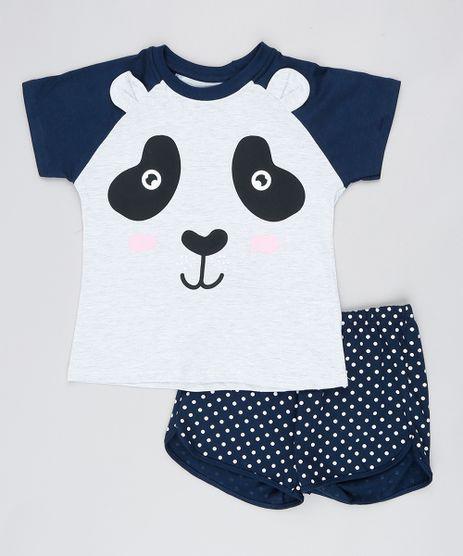 Pijama-Infantil-Raglan-Ursinho-Manga-Curta-Azul-Marinho-9527876-Azul_Marinho_1