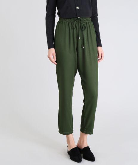Calca-Feminina-Jogger-Em-Tecido-Leve-Verde-Escuro-9553089-Verde_Escuro_1